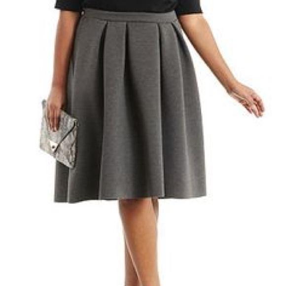 b63b40f5951 Plus Size Pleated Scuba Knit Midi Skirt NWT